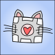 Avatar Picture. It's a Weighted Companion Cube with cat ears and whiskers (from Portal 2)