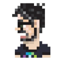 javier ramirez, AWS Developer Advocate, Data Engineer, pixel art 256